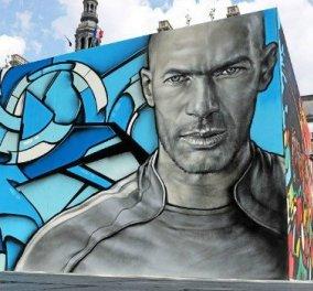 Summer @ eirinika: Παρίσι - Εuro 2016 - ''Oλοζώντανα'' graffiti με Ζιντάν, Ρονάλντο, Ινιέστα - Κυρίως Φωτογραφία - Gallery - Video