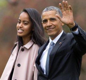"""Με μαύρα γυαλιά στην αποφοίτηση της κόρης του ο Μπ. Ομπάμα: """"Ήθελα να κρύψω τα δάκρυά μου""""  - Κυρίως Φωτογραφία - Gallery - Video"""