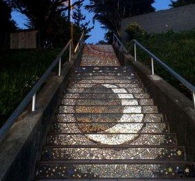 Τα διάσημα 163 σκαλοπάτια του Σαν Φρανσίσκο φωσφορίζουν τη νύχτα! Φώτο - Κυρίως Φωτογραφία - Gallery - Video