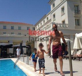Ο Βασίλης Σπανούλης στην γενέτειρα του, Λάρισα απολαμβάνει τις διακοπές του σε οικογενειακές στιγμές  - Κυρίως Φωτογραφία - Gallery - Video