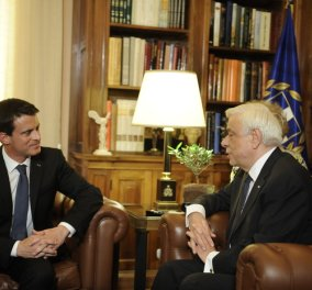 """Στην Αθήνα ο Μανουέλ Βαλς – """"Μπορείτε να υπολογίζετε στη συνεργασία της Γαλλίας"""" - Κυρίως Φωτογραφία - Gallery - Video"""