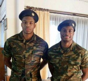Γιάννης και Θανάσης Αντετοκούνμπο ντύθηκαν στο χακί - Στρατιώτες τα αδέλφια σταρ του μπάσκετ  - Κυρίως Φωτογραφία - Gallery - Video