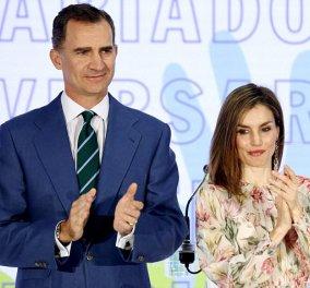 Με Zara των 50 ευρώ η Βασίλισσα Λετίσια της Ισπανίας σε επίσημη εμφάνιση πλάι στον Βασιλιά της     - Κυρίως Φωτογραφία - Gallery - Video