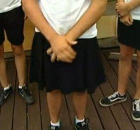 Μαθητές φόρεσαν σορτς στη γυμναστική που …απαγορευόταν – Η τιμωρία ήρθε & εκείνοι έβαλαν… φούστες!  - Κυρίως Φωτογραφία - Gallery - Video