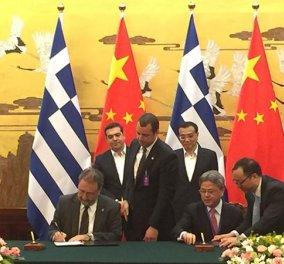 Και επίσημα ο ΟΛΠ στην Cosco: Υπεγράφη η συμφωνία στο Πεκίνο υπό το βλέμμα του Α. Τσίπρα   - Κυρίως Φωτογραφία - Gallery - Video