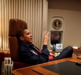 """Οι """"ασκητικές"""" νύχτες του Μπ. Ομπάμα: Κοιμάται μόλις 5 ώρες, διαβάζει επιστολές & τρώει αλατισμένα αμύγδαλα! - Κυρίως Φωτογραφία - Gallery - Video"""