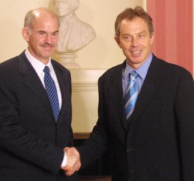 Τόνι Μπλερ & Γιώργος Παπανδρέου στην Ίο: Δυο πρώην πρωθυπουργοί σε κοινές διακοπές - Κυρίως Φωτογραφία - Gallery - Video