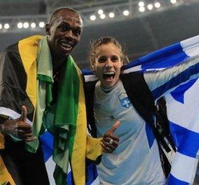 Ο Γιουσέιν Μπολτ κατέκτησε το 3ο του χρυσό μετάλλιο στο Ρίο και το πανηγύρισε παρέα με την Κ. Στεφανίδη! (Φωτό) - Κυρίως Φωτογραφία - Gallery - Video