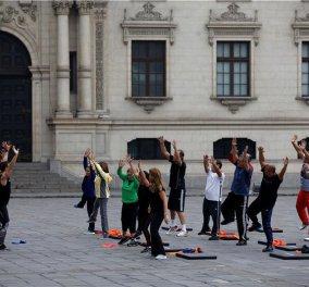 Απίστευτο! Οι υπουργοί φόρεσαν αθλητικά και φόρμες και βγήκαν στην αυλή, πρωί-πρωί, για γυμναστική! - Κυρίως Φωτογραφία - Gallery - Video