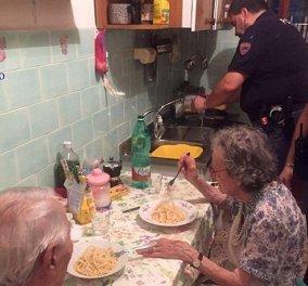 Story of the day: Ζευγάρι 90άρηδων έκλαιγαν γοερά από μοναξιά & οι αστυνομικοί τους  έφτιαξαν σπαγγέτι  - Κυρίως Φωτογραφία - Gallery - Video