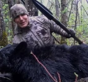 """Αμερικανός κυνηγός σκότωσε αρκούδα με ακόντιο - Το βιντεοσκόπισε και τώρα τα """"ακούει"""" στο ίντερνετ  - Κυρίως Φωτογραφία - Gallery - Video"""