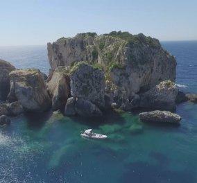 Αποκλ. Φωτό με drone που κόβουν την ανάσα πάνω από το νησάκι Δίας - Κόσμημα του Ιονίου & της Κεφαλλονιάς  - Κυρίως Φωτογραφία - Gallery - Video