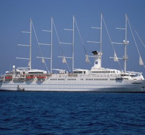 Αποκλ. φωτό: Όταν το φανταστικό κρουαζιερόπλοιο με πανιά Club Med 2 έπιασε Πλατύ Γυαλό στην Σίφνο - Κυρίως Φωτογραφία - Gallery - Video