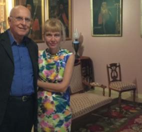 Αποκλ. φωτό: Βυζαντινά αριστουργήματα σε Μουσείο στην Κεφαλονιά - Ο Σταύρος Δήμας με την σύζυγο του, Μαίρη ήταν εκεί   - Κυρίως Φωτογραφία - Gallery - Video