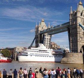 Ocean Majesty: Το 135 μέτρων κρουαζιερόπλοιο που τράβηξε όλα τα βλέμματα στο Λονδίνο - Κυρίως Φωτογραφία - Gallery - Video