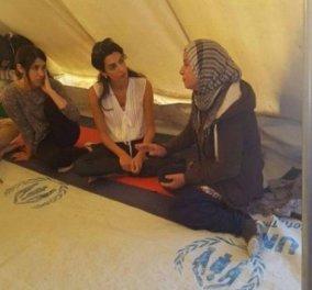 Σέρρες: Η Αμάλ Αλαμουντίν πήγε ινκόγκνιτο χωρίς κάμερες για να συναντήσει πρόσφυγες - Ο φακός όμως καραδοκούσε (Βίντεο)  - Κυρίως Φωτογραφία - Gallery - Video