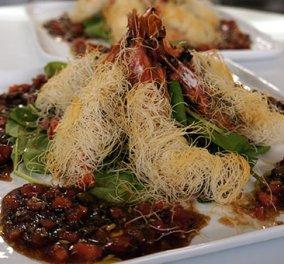 Απίθανες γαρίδες με κανταίφι και σάλτσα κάπαρης - Μια συνταγή του Βαγγέλη Δρίσκα  - Κυρίως Φωτογραφία - Gallery - Video
