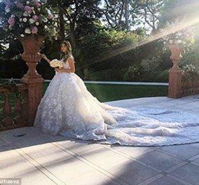 Το ακριβότερο νυφικό στον κόσμο - 242.000 λίρες! Το φόρεσε η 21χρονη φοτήτρια κόρη Τσετσένου ολιγάρχη των πετρελαιών - Κυρίως Φωτογραφία - Gallery - Video