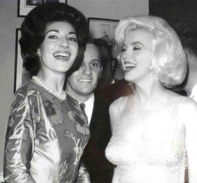 Vintage pics : H ντίβα της όπερας Μαρία Κάλλας με την ντίβα του Χόλιγουντ Μέριλιν Μονρόε - Κυρίως Φωτογραφία - Gallery - Video