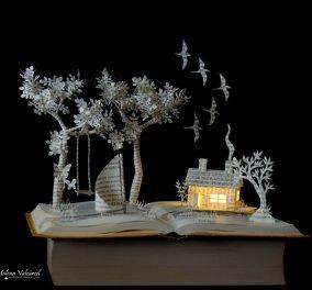 Μια συναρπαστική ιδέα: Μετέτρεψε τα παλιά βιβλία της σε φαντασμαγορικά χάρτινα τρισδιάστατα παραμύθια!   - Κυρίως Φωτογραφία - Gallery - Video