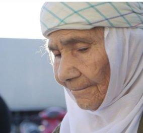 Η συγκλονιστική ιστορία της Έιντα και του σωτήρα της Αχμέντ: Η 115 χρονών πρόσφυγας από τη Συρία περιμένει τη λύτρωση στο νησί της Λέσβου - Κυρίως Φωτογραφία - Gallery - Video