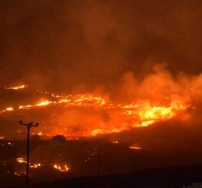 Σε εξέλιξη μεγάλη πυρκαγιά στην Αγία Μαρίνα της Σύρου - Κινδύνεψαν σπίτια - Δείτε φωτό και βίντεο - Κυρίως Φωτογραφία - Gallery - Video