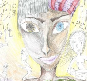 Good news: Πρώτο βραβείο σε παγκόσμιο διαγωνισμό για τη ζωγραφιά της 14χρονης Ευγενίας με θέμα την προσφυγική κρίση - Κυρίως Φωτογραφία - Gallery - Video