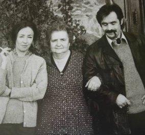 Η Οριάνα Φαλάτσι και ο Αλέκος Παναγούλης, μαζί με την μητέρα της Τόσκα