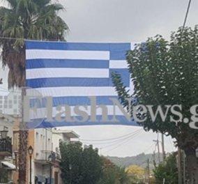Good News: Στα Χανιά η μεγαλύτερη ελληνική σημαία - Η πόλη γιορτάζει & οι φωτό εντυπωσιάζουν - Κυρίως Φωτογραφία - Gallery - Video