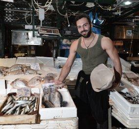 Εντοπίστηκε καλλονός ψαράς στη Βαρβάκειο αγορά αλλά μας φεύγει για τα ξένα: Η δουλειά μας είναι σε παρακμή - Πάω Ελβετία  - Κυρίως Φωτογραφία - Gallery - Video