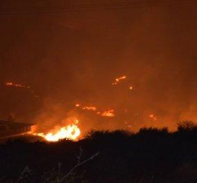Υπό έλεγχο η φωτιά στη Σύρο - Ολονύχτια μάχη με τις φλόγες - Κυρίως Φωτογραφία - Gallery - Video