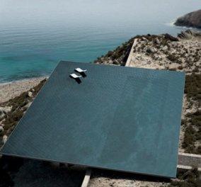 Good News: Νέα διάκριση για την πολυβραβευμένη κατοικία στην Τήνο με στέγη μια πισίνα - Κυρίως Φωτογραφία - Gallery - Video