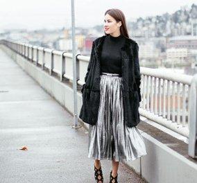 Μεταλλική πλισέ : Είναι η φούστα της χρονιάς σε όλα τα χρώματα, χρυσό, ασημί, πράσινο & όλες τις τιμές - Κυρίως Φωτογραφία - Gallery - Video