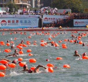 Πανζουρλισμός στον ετήσιο αγώνα κολύμβησης του Χονγκ Κονγκ: Έχασε τη ζωή του ένας άντρας & άλλος νοσηλεύεται στην εντατική - Κυρίως Φωτογραφία - Gallery - Video