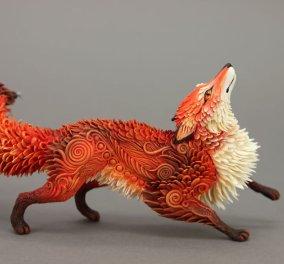 Έχει 34 εκ θαυμαστές! Φτιάχνει αριστουργήματα - γλυπτά με ζώα από βελούδινο πηλό - Κυρίως Φωτογραφία - Gallery - Video