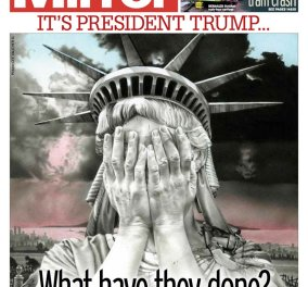 Πρωτοσέλιδα εφημερίδων σε όλο τον κόσμο: Οι Simpsons, το άγαλμα της Ελευθερίας με κλάματα & ο σεισμός Τραμπ - Κυρίως Φωτογραφία - Gallery - Video