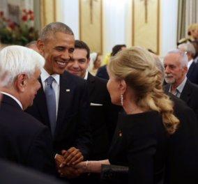 Δύο γυναίκες στο δείπνο για τον Ομπάμα - Μαριάννα Βαρδινογιάννη & Μαριάννα Λάτση - Όλες οι φωτό - Κυρίως Φωτογραφία - Gallery - Video