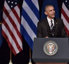 Φωτό & βίντεο από την ιστορική ομιλία Ομπάμα: ''Ζήτω η Ελλάς!'' είπε κλείνοντας ο Πρόεδρος των ΗΠΑ - Κυρίως Φωτογραφία - Gallery - Video