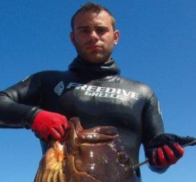 Good News: 26χρονος Σκοπελίτης έπιασε ροφό - γίγας 18 κιλών - Δείτε φωτό - Κυρίως Φωτογραφία - Gallery - Video