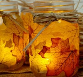 DIY: Ο Σπύρος Σούλης μας δείχνει πώς να φτιάξουμε μόνοι μας τα πιο φθινοπωρινά διακοσμητικά σπιτιού με... πεσμένα φύλλα! - Κυρίως Φωτογραφία - Gallery - Video