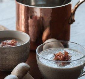 Υπέροχη σούπα βελουτέ με μανιτάρια φτιάχνει ο Άκης Πετρετζίκης και καλό Χειμώνα! - Κυρίως Φωτογραφία - Gallery - Video