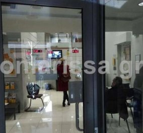 Ληστεία σε τράπεζα της Λάρισας – Οι πολίτες «εξουδετέρωσαν» τον δράστη  - Κυρίως Φωτογραφία - Gallery - Video