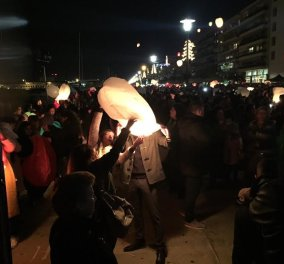 Gοod news από τον ουρανό του Βόλου: Γέμισε χιλιάδες φαναράκια με ευχές  -Φωτό - Κυρίως Φωτογραφία - Gallery - Video