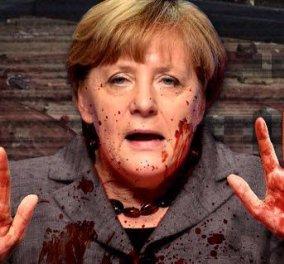 Σάλος στο Βερολίνο: Ο ακροδεξιός Γκέερτ Βίλντερς πόσταρε φωτό της Μέρκελ με αίμα στα χέρια - Κυρίως Φωτογραφία - Gallery - Video