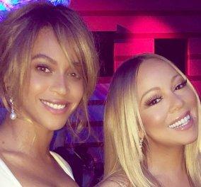 Δυό βασίλισσες της σόουμπιζ - χρστουγεννιάτικη αγκαλιά: Beyonce και Mariah Carey σε αξέχαστο στιγμιότυπο - Κυρίως Φωτογραφία - Gallery - Video