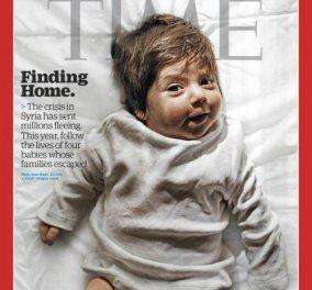 TIME:  Με μωρά προσφυγόπουλα που γεννήθηκαν στην Ελλάδα το εξώφυλλο του τελευταίου τεύχους της χρονιάς - Κυρίως Φωτογραφία - Gallery - Video
