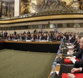 Γενεύη: Σε εξέλιξη η ιστορική διάσκεψη για την Κύπρο με τη συμμετοχή των τριών εγγυητριών δυνάμεων - Κυρίως Φωτογραφία - Gallery - Video