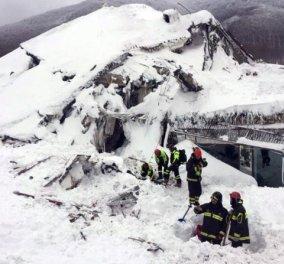 Ακόμα 4 επιζώντες ανασύρθηκαν από το ξενοδοχείο Rigopiano - Κρίσμιμες ώρες για 2 ακόμα παγιδευμένους  - Κυρίως Φωτογραφία - Gallery - Video