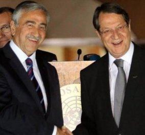 Κυπριακό: Ξεκίνησαν οι διαπραγματεύσεις Αναστασιάδη – Ακιντζί στη Γενεύη - Κυρίως Φωτογραφία - Gallery - Video