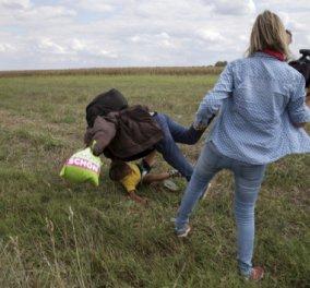 Ποινή φυλάκισης 3 ετών στην εικονολήπτρια που κλώτσησε και έβαλε τρικλοποδιά σε πρόσφυγες - Κυρίως Φωτογραφία - Gallery - Video